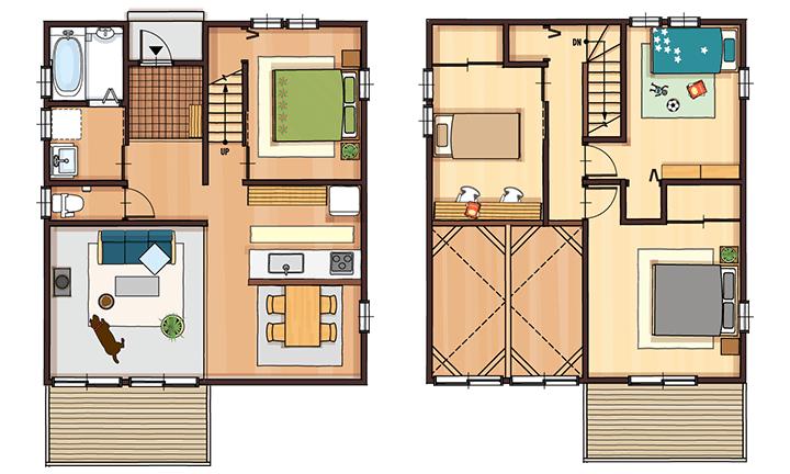 栃木県宇都宮市の住宅会社といえばNEXT HAUS DESIGNの間取り01