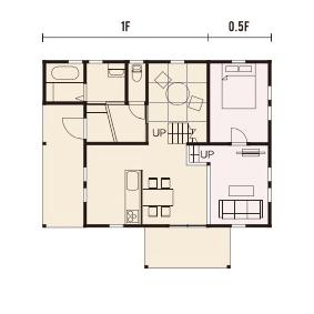 宇都宮市でスキップフロアといえばNEXT HAUS DESIGNのプラン01