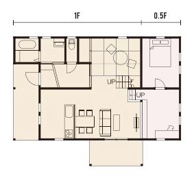 宇都宮市でスキップフロアといえばNEXT HAUS DESIGNのプラン07