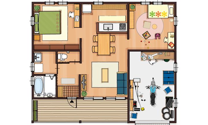 栃木県宇都宮市でCOVACOを建てるならNEXT HAUS DESIGNの間取り02