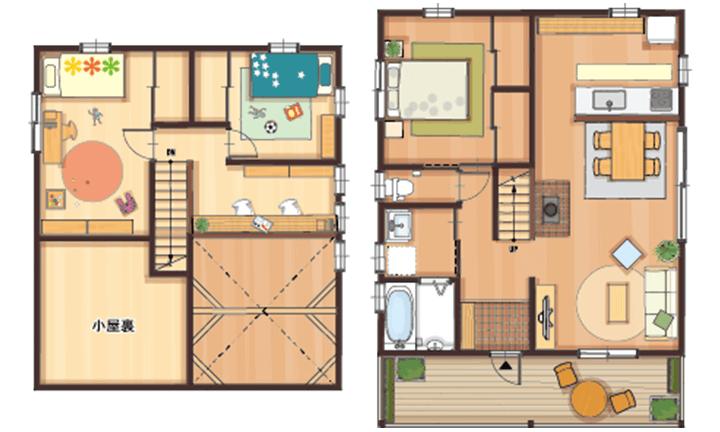 栃木県宇都宮市のローコスト住宅はNEXT HAUS DESIGNの間取り