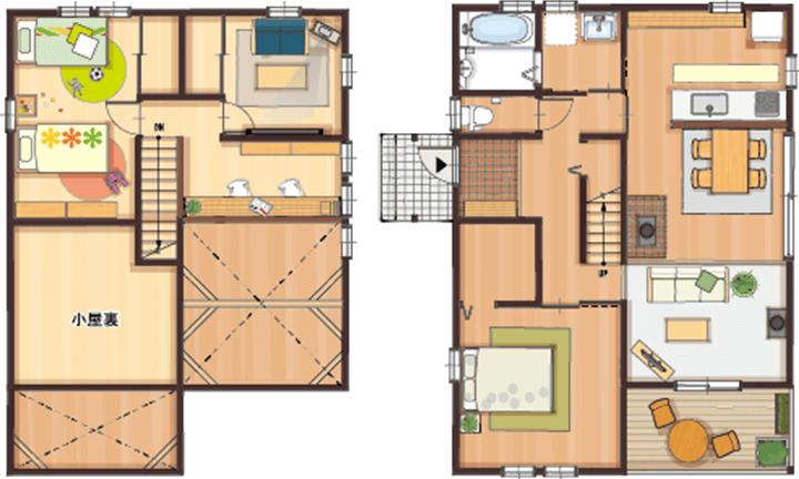 栃木県宇都宮市のローコスト住宅はNEXT HAUS DESIGNの間取り02