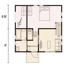 宇都宮市での注文住宅NEXT HAUS DESIGNのRのプラン01