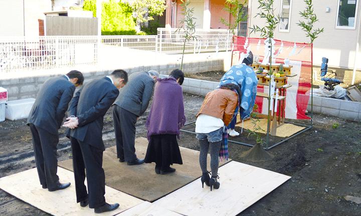 茨木県宇都宮市で注文住宅を建てるNEXT HAUS DESIGNの地鎮祭