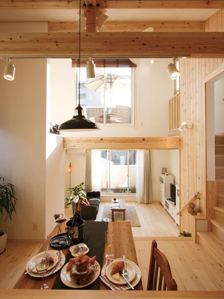 栃木県の工務店が建てるNEXT HAUS DESIGNのX-CREWSリビング03