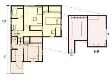 栃木県の工務店が建てるNEXT HAUS DESIGNのX-CREWSのプラン05
