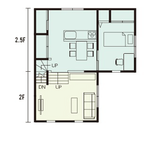 栃木県の工務店が建てるNEXT HAUS DESIGNのX-CREWSのプラン06