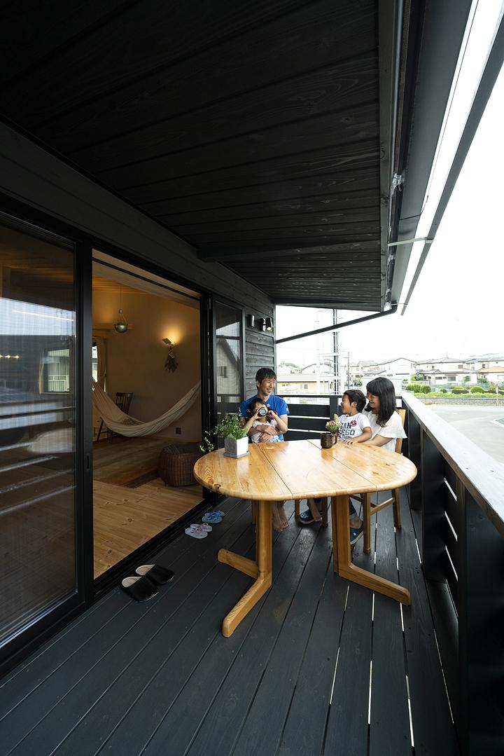 栃木県宇都宮市U様邸|ウッドバルコニー|ネクストハウスデザイン