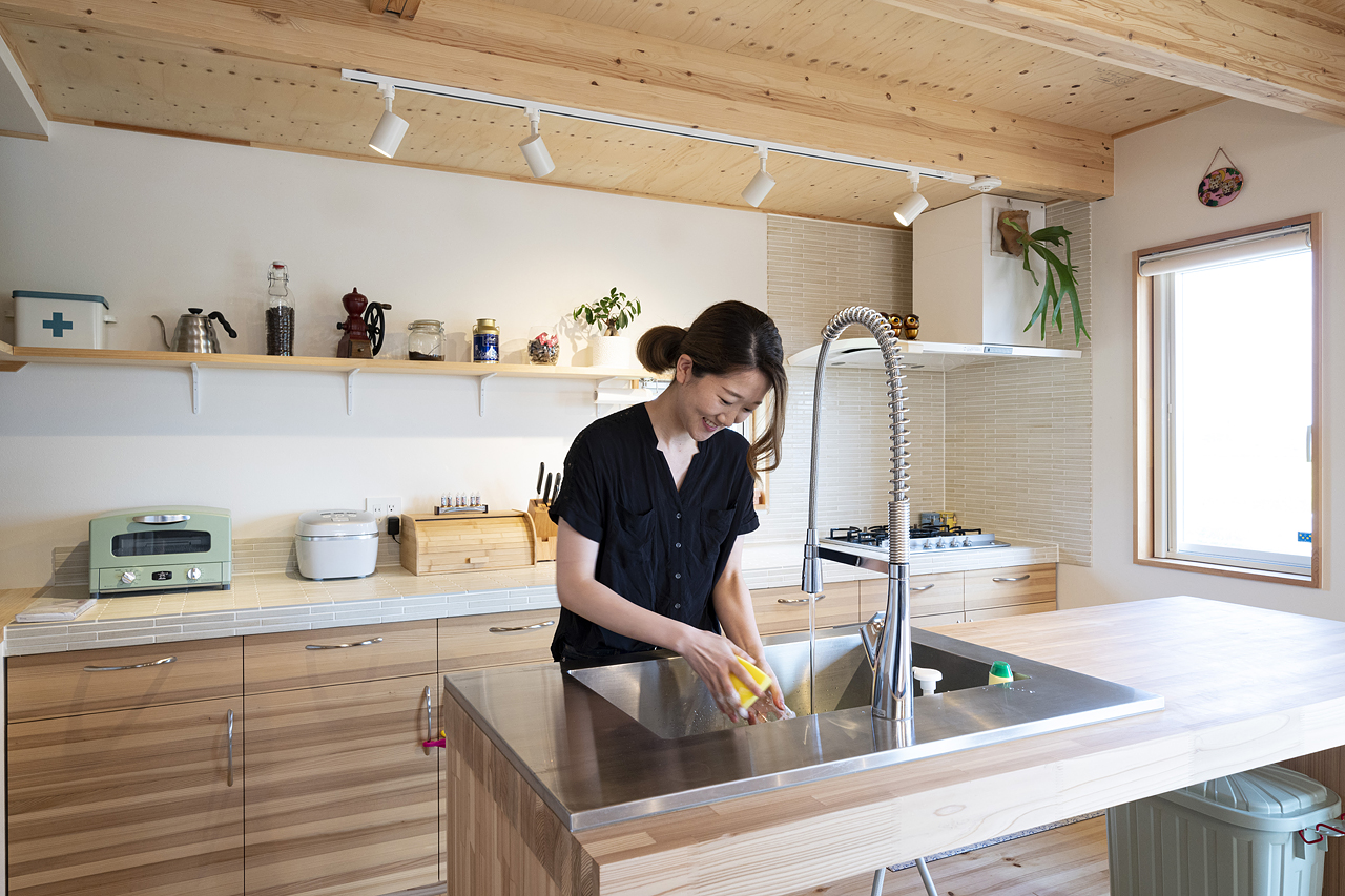 栃木県下野市H様邸|LOAFER|キッチン|ネクストハウスデザイン