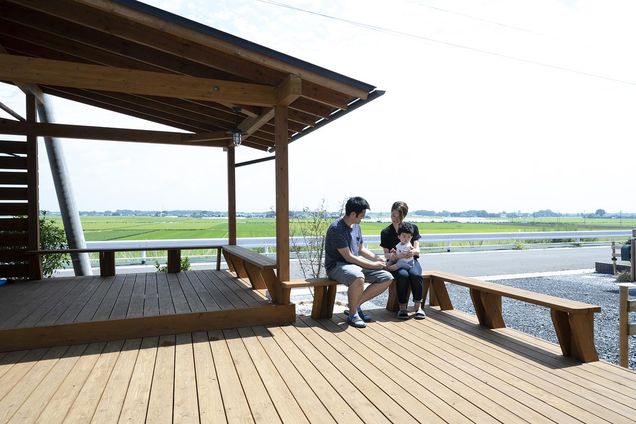 栃木県下野市H様邸|LOAFER|ウッドデッキ|ネクストハウスデザイン