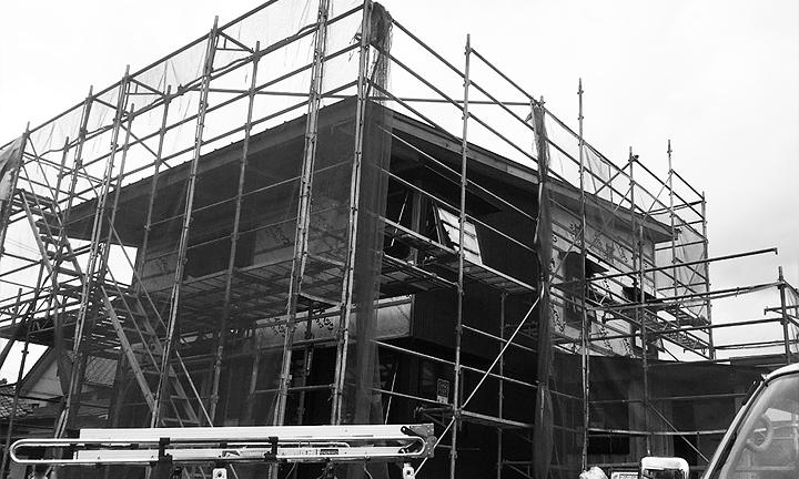宇都宮西モデルハウス|BEAHAUS|建築中